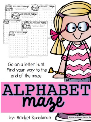 Alphabet Maze: Letter Recognition Activity