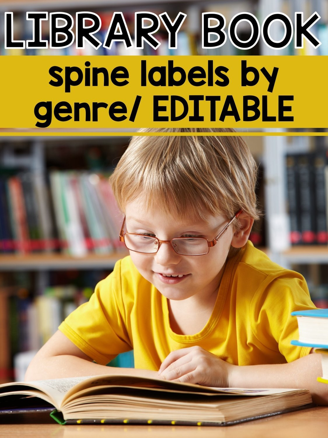 Library Book Labels by Genre