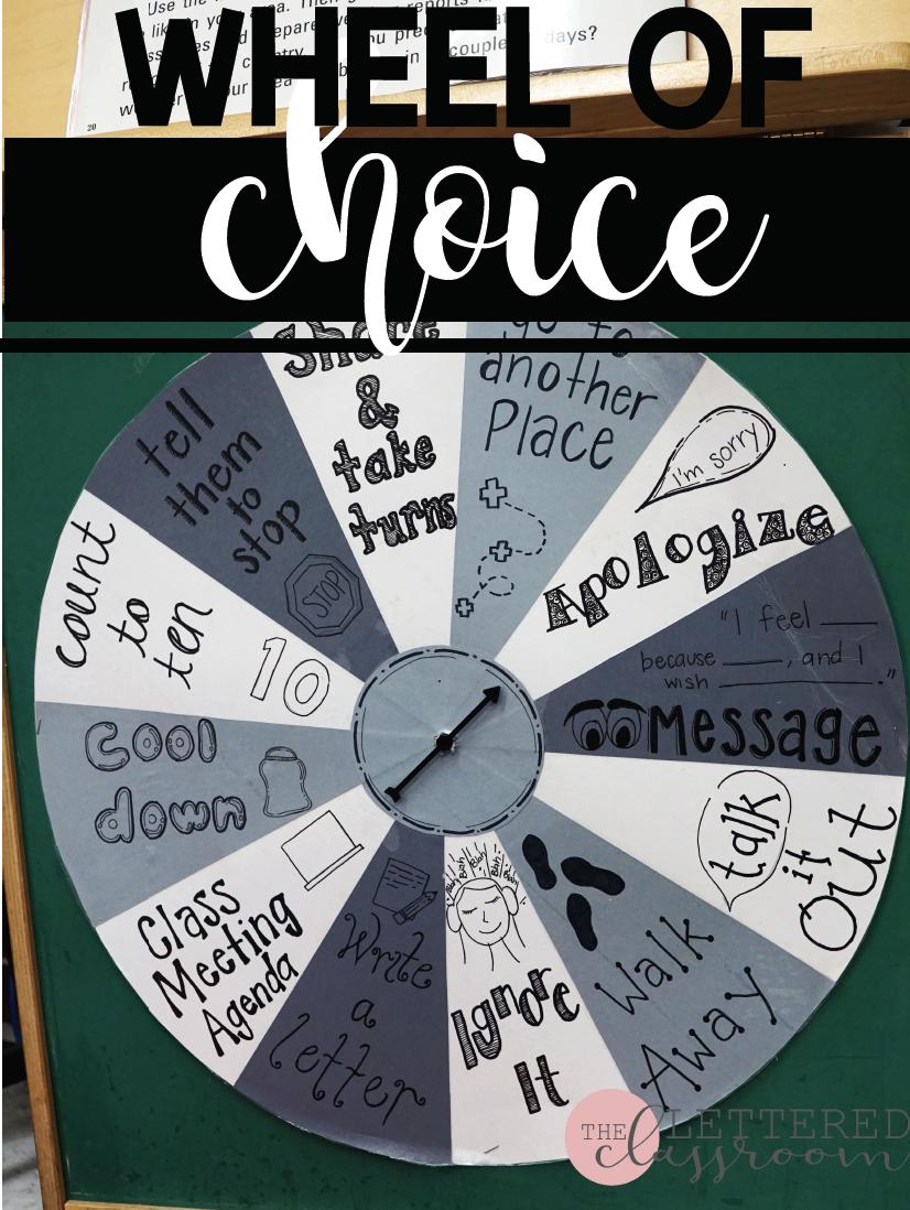 Wheel of Choice   Behavior Wheel