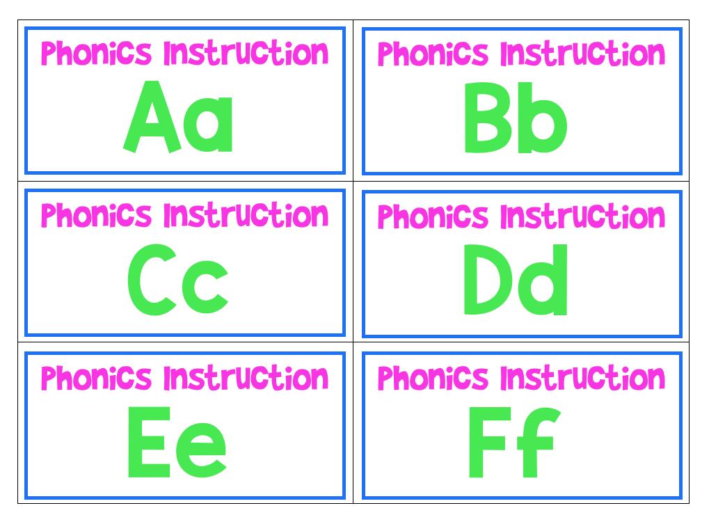 Phonics Storage Labels