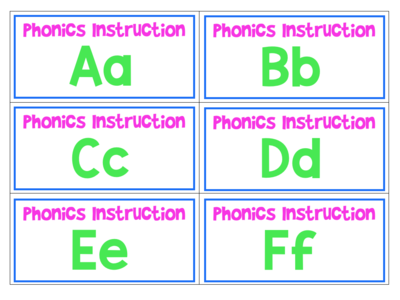 Phonics Storage Labels