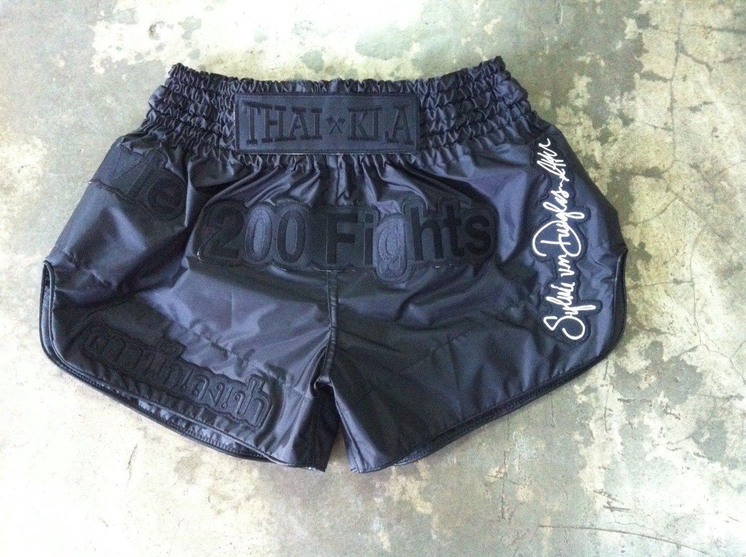Sylvie Signature 200 Fights Shorts (nylon) | Black on Black
