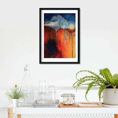 Moonstorm Framed Print