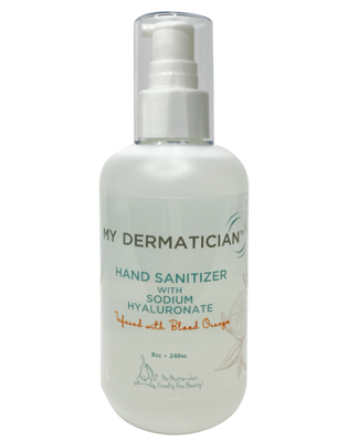 My Dermatician Hand Sanitizer 8oz infused with Blood Orange