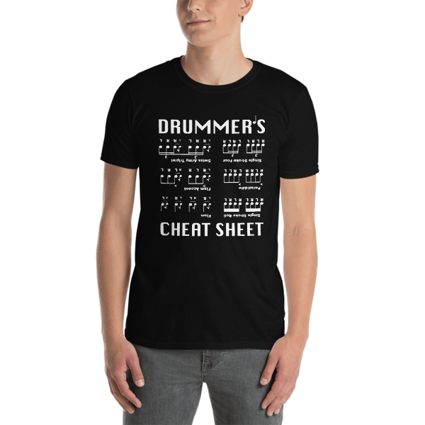 """The Drum Shop """"Drummer's Cheat Sheet"""" Limited T-Shirt"""