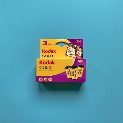 Kodak Gold 200 24exp 35mm Pack of 3