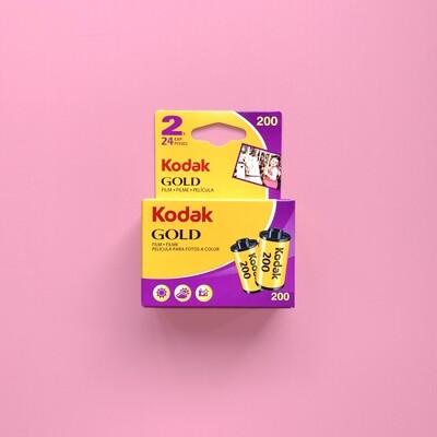 Kodak Gold 200 24exp 35mm Pack of 2