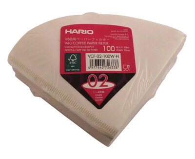 Hario V60 02 Filter Papers x100