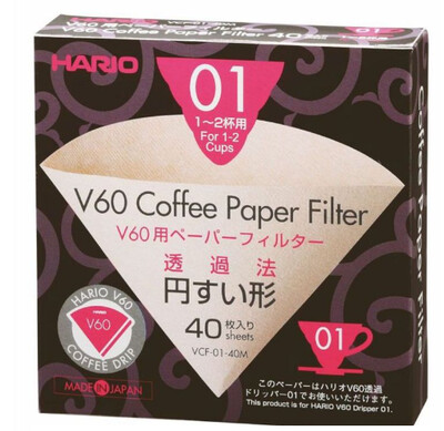 Hario V60 01 Filter Papers x40