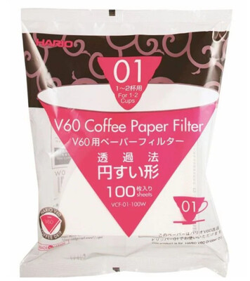 Hario V60 01 Filter Papers x100