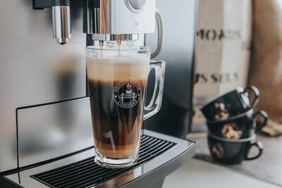 Bristol Coffee Company Branded Latte Glass