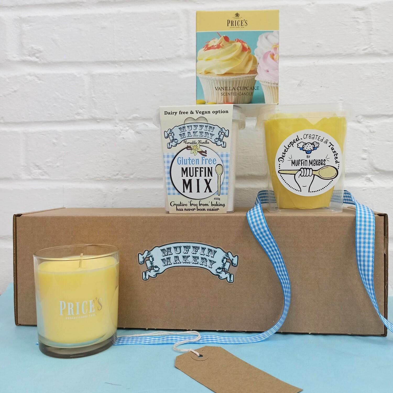 Candle and Cupcake Vanilla Gifting Box