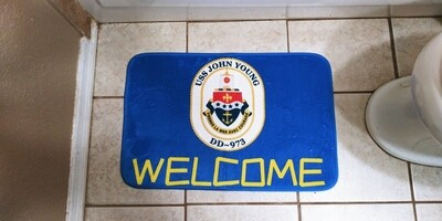 USS JOHN YOUNG WELCOME MAT