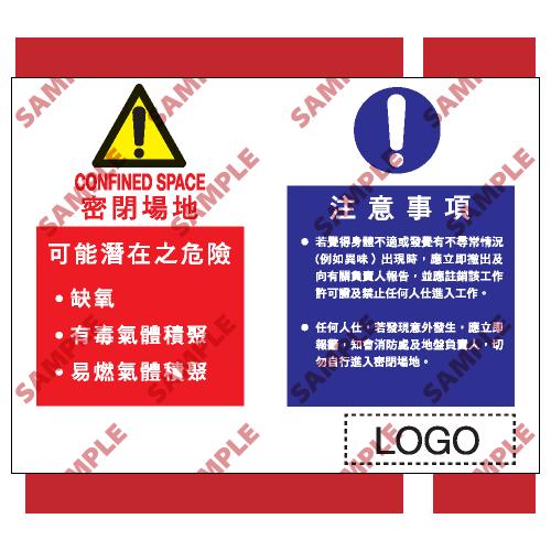 W128 - 危險警告類安全標誌