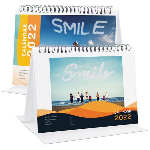 DSA06H 橫身A5座枱月曆 (快樂人生)