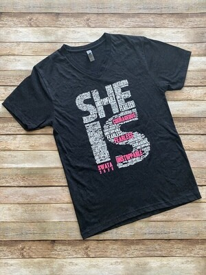 She Is SWATA T-Shirt (Black)
