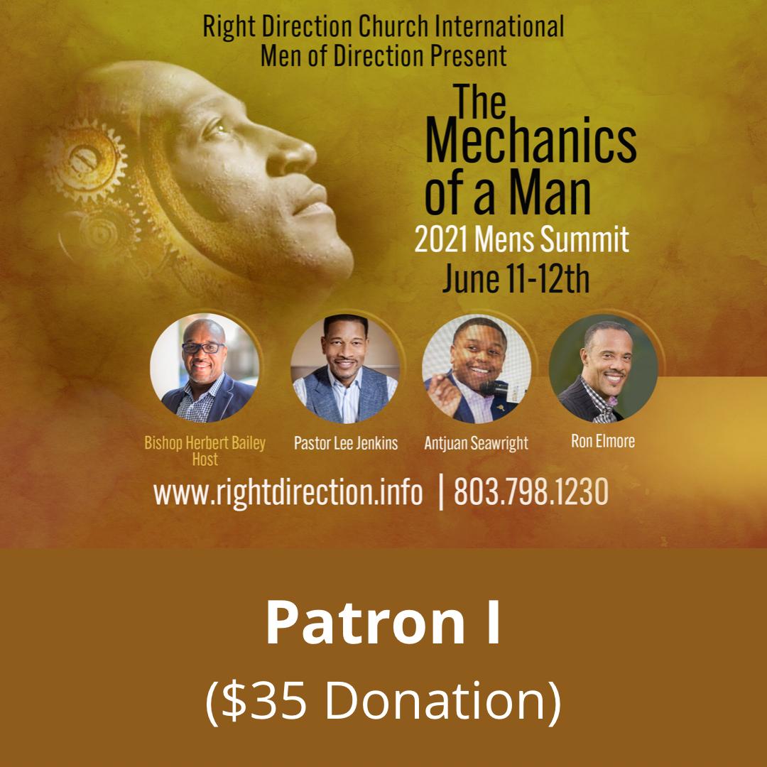 MOD Men's Summit - Patron I ($35 Donation)