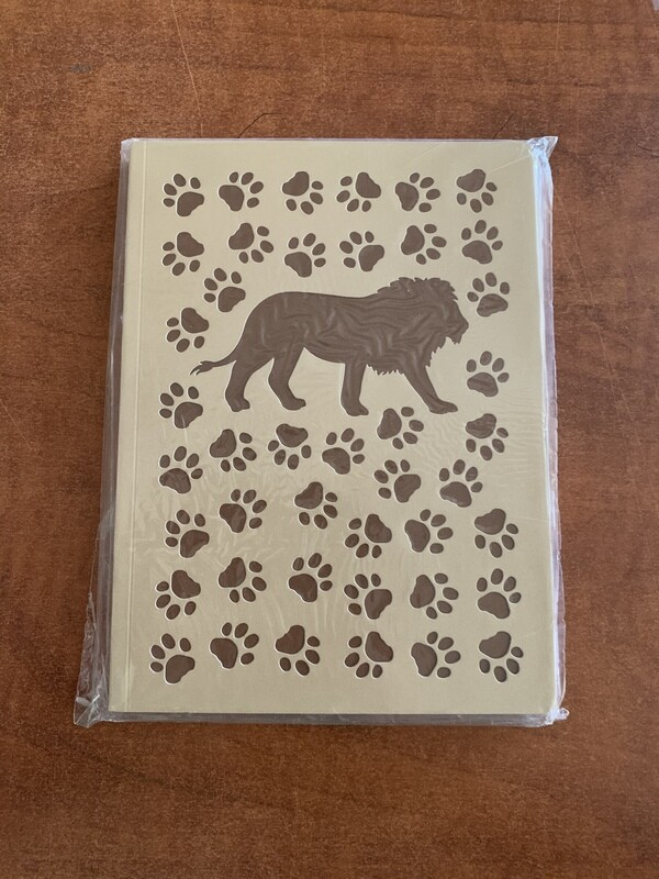 Lion Paw Print Lined Journal