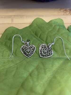 Beautiful Full Heart Earrings