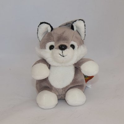 Mini Stuffed Wolf