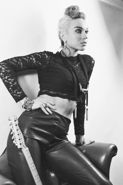 'Black Leather' JJ Rosa Signed Photo Print 5X7