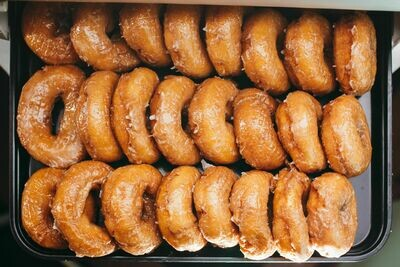 Vanilla Cake Donut, Glazed (Single Donut)
