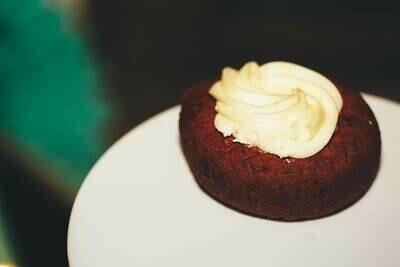 Red Velvet Cake Donut, Cream Cheese Icing (Single Donut)