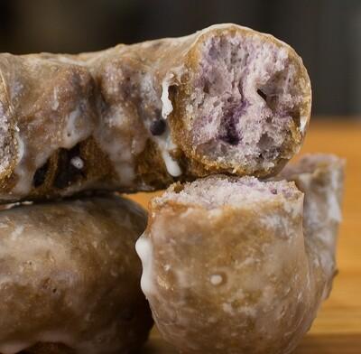 Blueberry Cake Donut, Glaze (Single Donut)