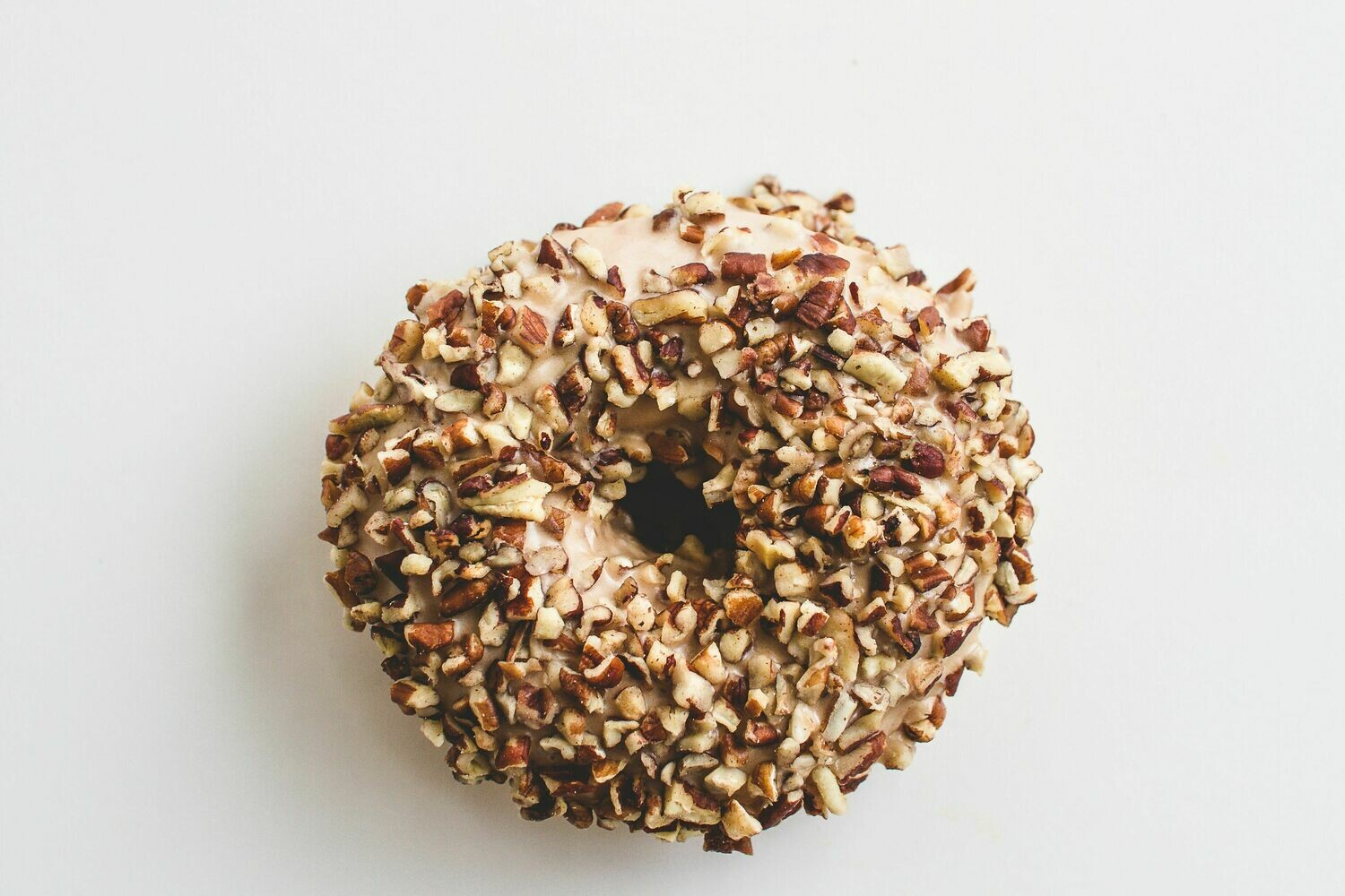 Yeast Donut, Maple Icing, Crushed Pecans (Single Donut)