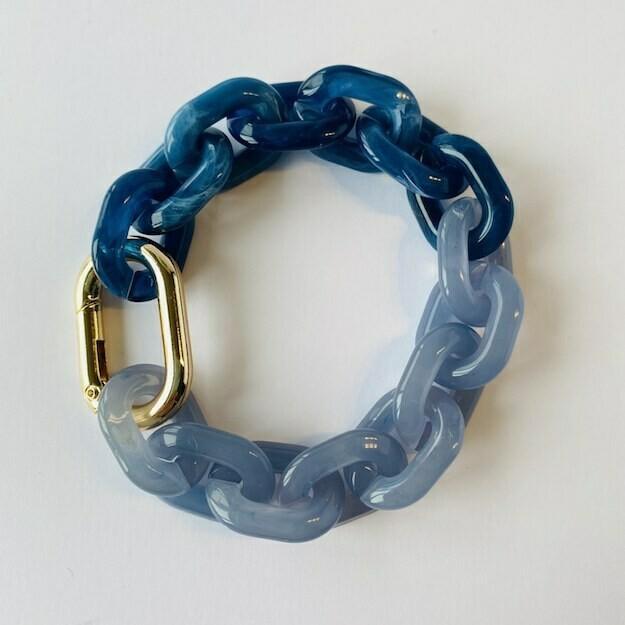chunky bracelet 'the blues'