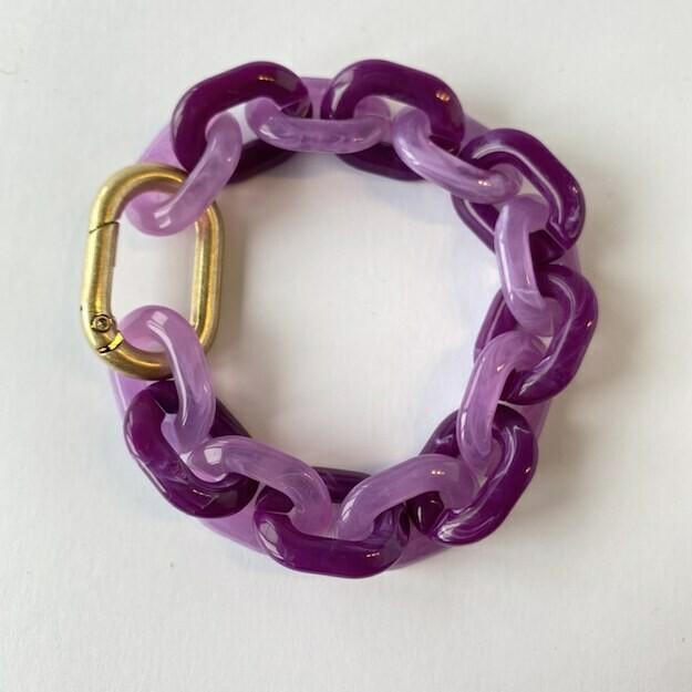 chunky bracelet 'purple rain'