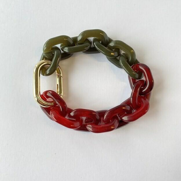 chunky bracelet 'red lips'