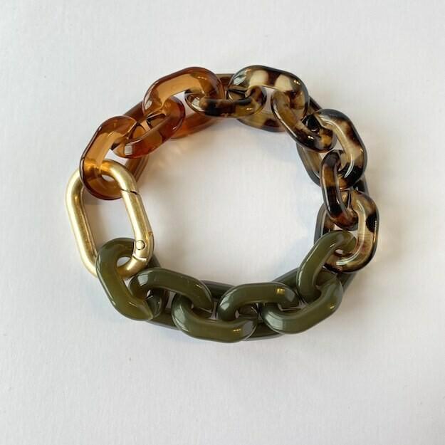 chunky bracelet 'tiger mix'