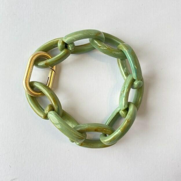 chunky bracelet 'funky green'