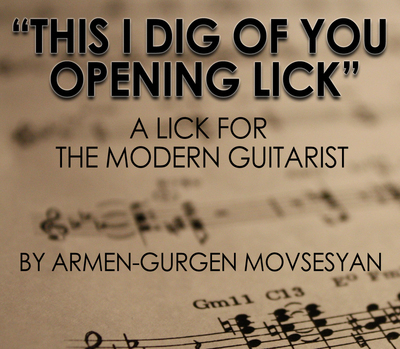 "Armov - ""This I Dig of You Opening Lick"""