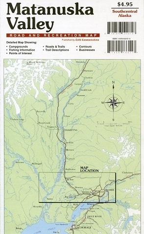 Matanuska Valley Road & Recreation Map