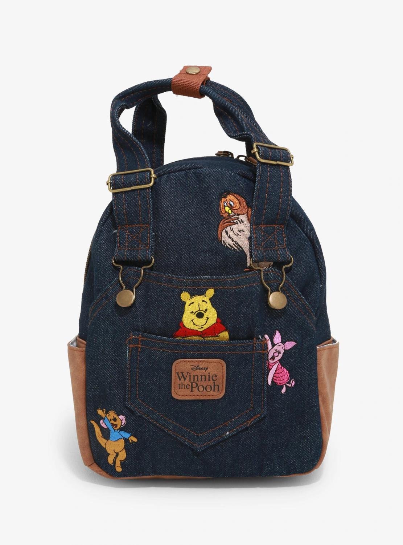 Bolsa Mochila Winnie Pooh Mezclilla X00