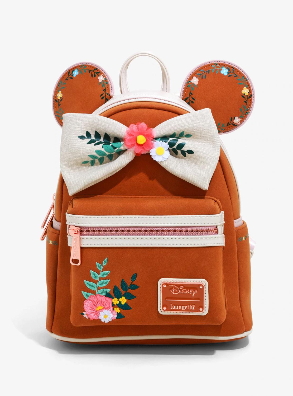 Bolsa Mochila Mickey Floral X0