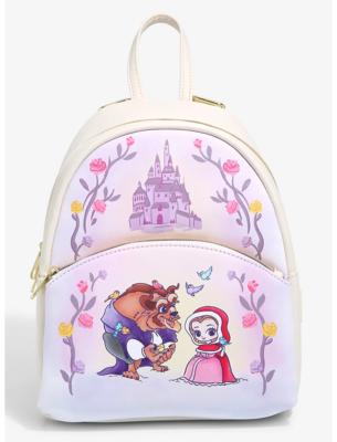 Mochila Princesa Disney Bella y Bestia Kawaii Chibi
