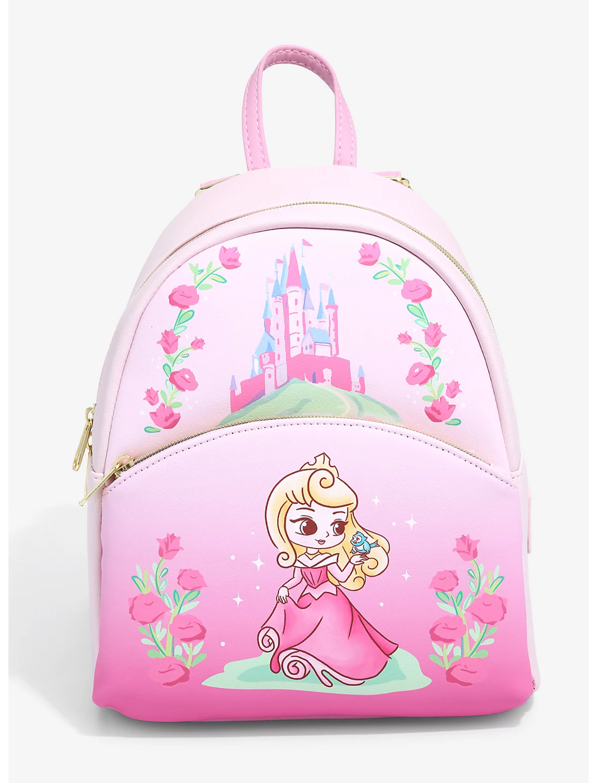 Mochila Princesa Disney Bella Durmiente Kawaii Chibi