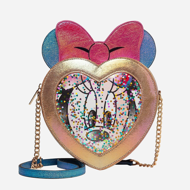 Bolsa Mochila Minnie Mouse Corazon Confeti