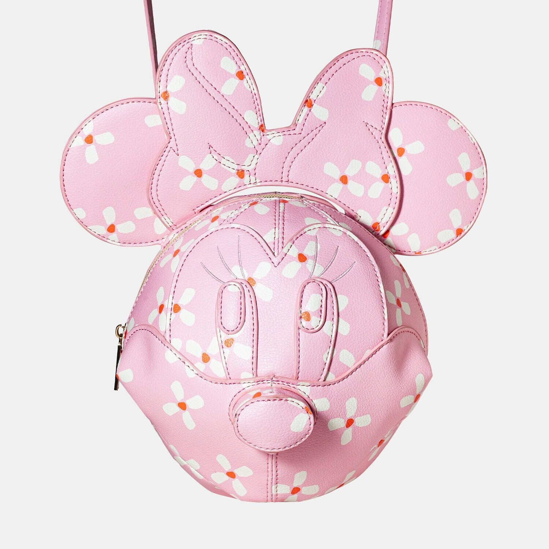 Bolsa Mochila Minnie Mouse Rosa 3D