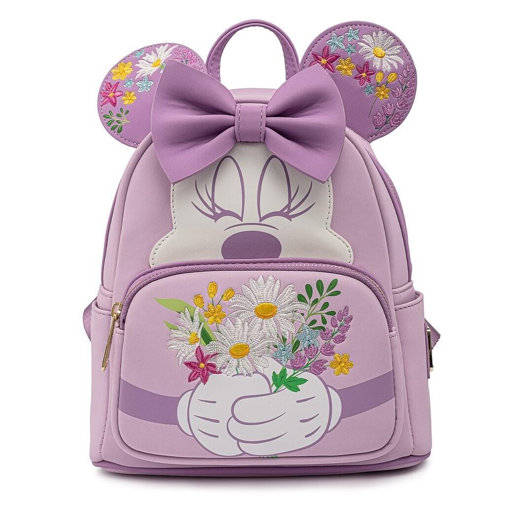 Bolsa Mochila Minnie Mouse Flores