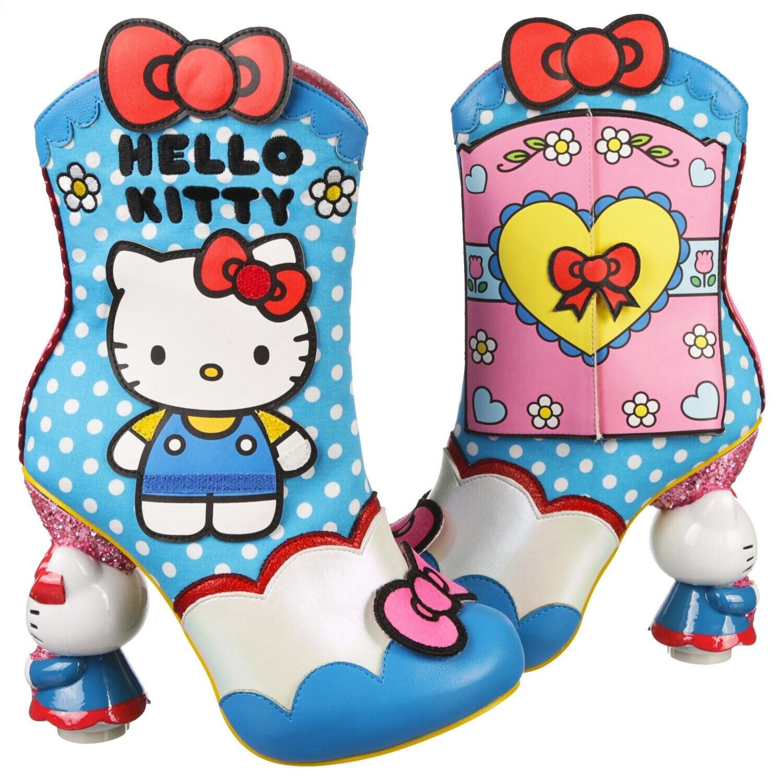 Botas Tacones Hello Kitty