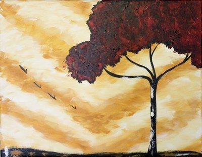 """""""Red Tree"""" by Francesca Bessett"""
