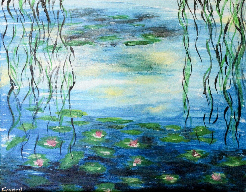 """""""Water Lilies"""" Recreation by Francesca Bessett"""