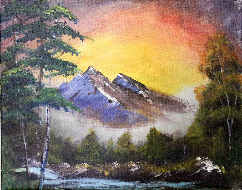 """Bob Ross """"Change of Seasons"""" Recreation by Francesca Bessett"""