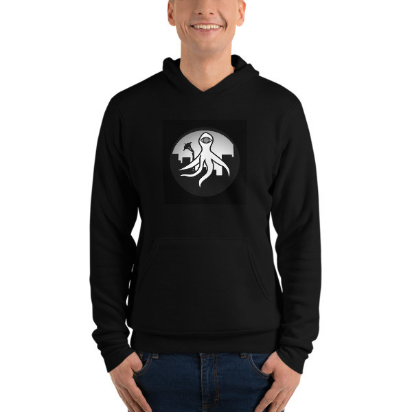 Unisex SEA MONSTER BW logo hoodie