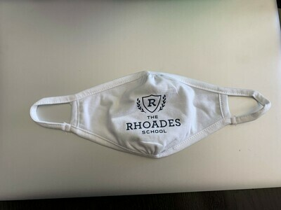 Rhoades School Mask- Child Size in White