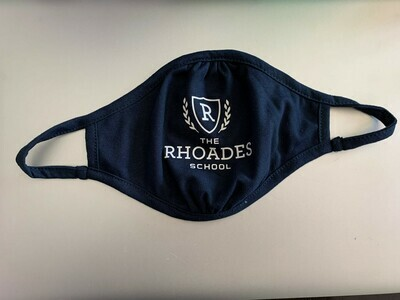 Rhoades School Mask- Adult Size in Navy